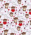 Valentine\u0027s Day Fabric 43\u0027\u0027-Bears Hugs & Kisses