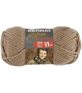 Bernat Softee Chunky Yarn Multipack of 12-Soft Taupe