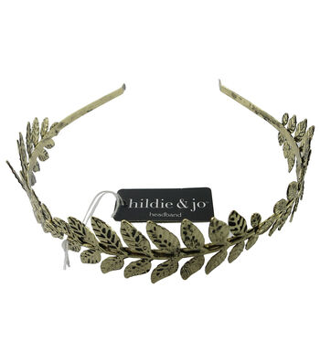 hildie & jo 5.88''x5'' Leaves Antique Gold Headband