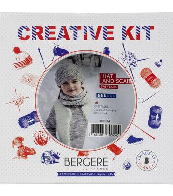 Bergere De France Hat & Scarf Kit-Azur
