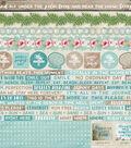 Kaisercraft Island Escape 12\u0027\u0027x12\u0027\u0027 Printed Sticker Sheet