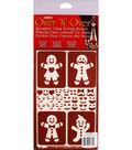 Armour Products Over \u0027N\u0027 Over 5\u0027\u0027x8\u0027\u0027 Reusable Stencil-Gingerbread Folks