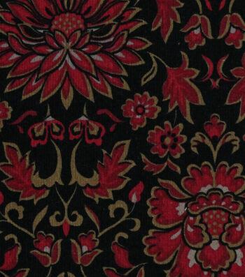 """Sportswear Stretch Corduroy Fabric 55""""-Floral"""