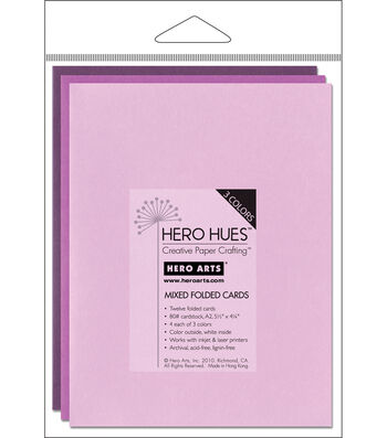"Hero Arts 5-1/2""x4-1/4"" Folded Cards-12PK/Floral Mix"