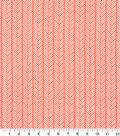 Quilter\u0027s Showcase Cotton Fabric -Linear Arrows on Coral