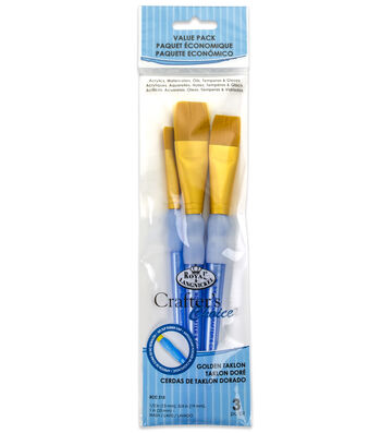 Royal & Langnickel Wash Brush Set 3pk-Golden Taklon