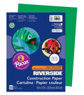 Busy Kids Learning Riverside Construction Paper-Holiday Green