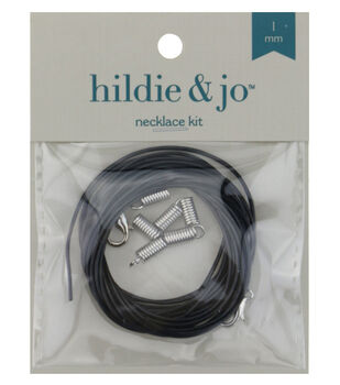 Darice 1mm Black Faux Leather Cord Necklace Kit
