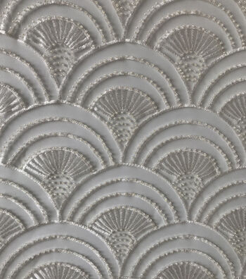 Save The Date Scallop Sequin Fabric 56''-Eggnog