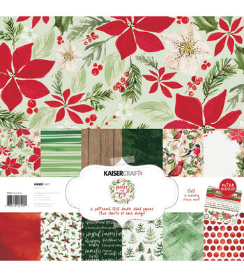 "Kaisercraft Paper Pack 12""X12"" 12/Pkg-Peace & Joy"