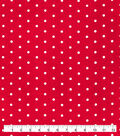 Snuggle Flannel Fabric-White Dots on Scarlet