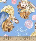 Disney Princess Print Fabric- Belle Kind Of Heart