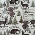 Anti-Pill Plush Fleece Fabric-Lodge Words & Animals