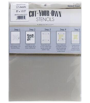 Stencil Ease 12 pk 8''x10.5'' Cut-Your-Own Stencil Blanks