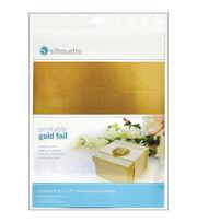 "Silhouette Printable Adhesive Foil 8.5""X11"" 8/Pkg-Gold, , hi-res"