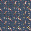 Minnie Mouse Flannel Fabric-Floral Allover