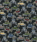 Novelty Cotton Fabric 44\u0027\u0027-Antique Cars on Black