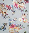 Silky Prints Shine Fabric 57\u0022-Foil Floral