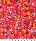 Keepsake Calico Cotton Fabric-Poppy Toss Red