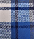 Plaiditudes Brushed Cotton Fabric -Blue, Navy & Ivory Grid Check