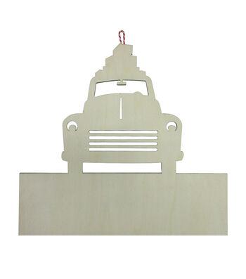 Maker's Holiday Craft Christmas 15.75''x14.17'' Laser Cut Wood Car