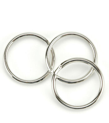 """Nickel Split Key Rings-1"""" 10/Pkg"""