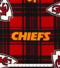 Kansas City Chiefs Fleece Fabric 58\u0022-Plaid