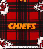 Kansas City Chiefs Fleece Fabric -Plaid, , hi-res
