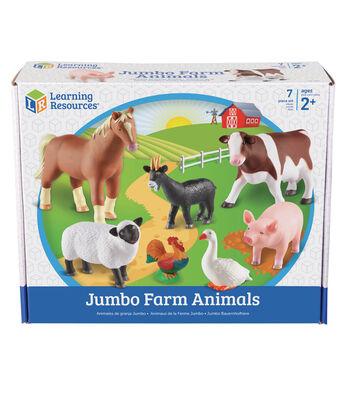 Jumbo Farm Animals, 7/pkg