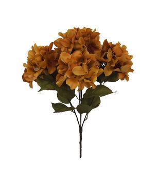 Blooming Autumn Silk Screen Hydrangea Bush-Mustard