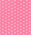 Snuggle Flannel Fabric -White Dots on Pink