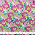 Doodles Juvenile Apparel Fabric-Modern Floral on Pink