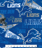 Detroit Lions Fleece Fabric -Retro, , hi-res