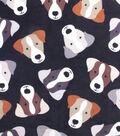 Fleece No Sew Throw 48\u0022-Dog Faces