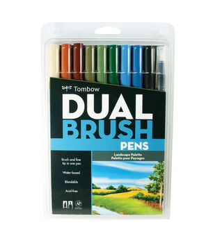 Tombow Dual Brush Pen Set-10PK/Landscape