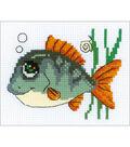 RIOLIS Happy Bee 6.25\u0027\u0027x5\u0027\u0027 Counted Cross Stitch Kit-Smiling Fish