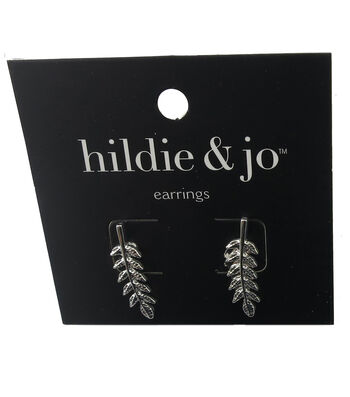 hildie & jo Stem Silver Earrings