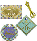 K&Company Blue And Gold Triangle Gift Tags