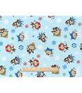 Snuggle Flannel Fabric -Winter Monkey Fun