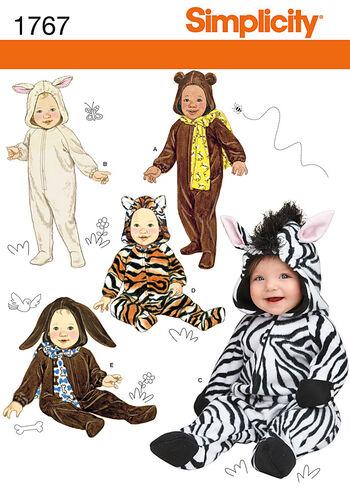 Simplicity Pattern 1767A Infants' Costumes-Size XS-L
