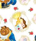 Disney Beauty & The Beast Cotton Fabric -Belle Toss