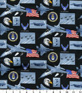 United States Air Force Cotton Fabric -Allover