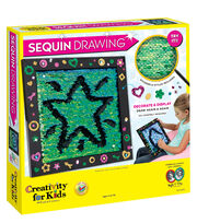 Creativity for Kids Sequin Drawing Kit, , hi-res