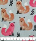 Anti-Pill Plush Fleece Fabric-Elegant Foxes