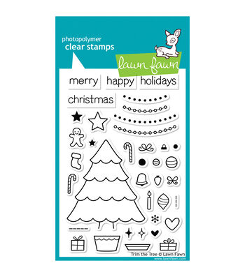 "Lawn Fawn Clear Stamps 4""X6""-Trim The Tree"