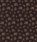 Quilter\u0027s Showcase Cotton Fabric-Tossed Disty Floral on Plum