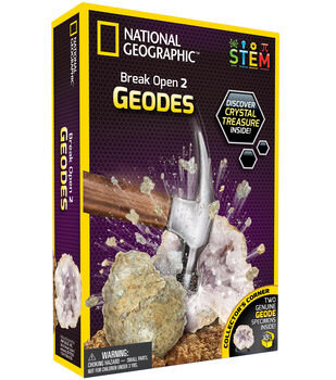 National Geographic Break Open 2 Geodes Kit