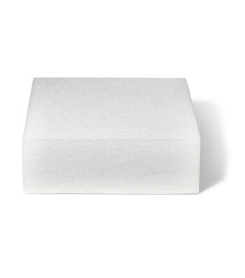 FloraCraft SmoothFoam 12'' Styrofoam Cake Form-White