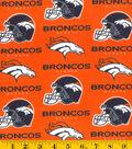 Denver Broncos Cotton Fabric -Orange