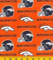 Denver Broncos Cotton Fabric -Orange, , hi-res